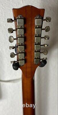 Eko Rio Bravo 12 Cordes Guitare Acoustique Vintage. Fabriqué En Italie Dans Les Années 70