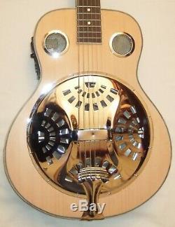 Electro Guitare Acoustique Résonateur Hand Made Grande Ton Satiné C / W Sac Concert