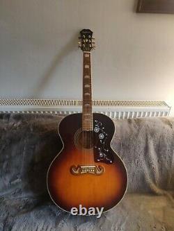 Epiphone Ej200 Vs Guitare Acoustique Made In Corée (samick) 1997 Avec Le Cas Dur