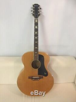 Epiphone Sheraton Ft-507bl Jumbo Guitare Acoustique / Vintage 70s Made In Japan