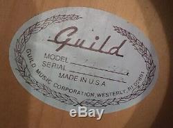 Fabriqué Aux États-unis Dans Les Années 1980, Étui Rigide En Forme De Coquillage Dreadnought En Érable, Guirlande Et Originale