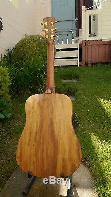 Fait À La Main Dreadnought Guitare Acoustique Fait En Galles