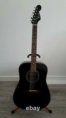 Fender Ag-22 Guitare Acoustique Noir Utilisé Fabriqué En Corée
