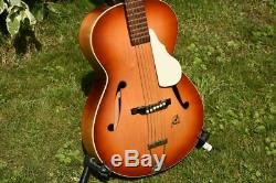 Framus Hobby 5/50 Archtop Vintage Guitare Gitarre Fabriqué En Allemagne Avec Estampé