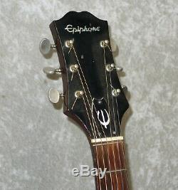 Ft-130 Epiphone Guitare Acoustique Cas Mij Fait Dans L'étiquette Bleu Japon
