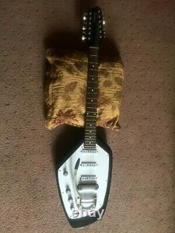 Gaucher 12 Cordes Phantom Guitar Fait- Personnalisé Avec Trémolo Blanc Modèle Vox