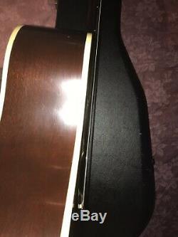 Gibson 1970 Mk35 Made In USA Rare Vintage Guitare Acoustique Et Étui Rigide