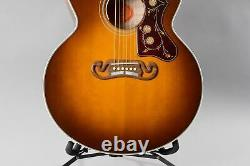 Gibson Sj-200 Amber Burst 2016 Quilt Acoustic-electric Seulement 40 Made