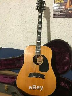 Gibson Vintage Patrimoine Coutume Guitare Acoustique 1975 Made In USA Dreadnought