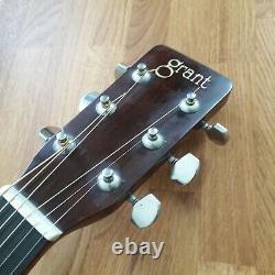 Grant Acoustic Guitar Great Tone Rare Tobacco Burst Made In Japan