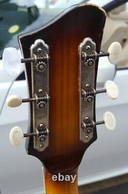 Graubner Rex Acoustic Guitar Made In Germany Nice Player Jazz Classic Des Années 1950