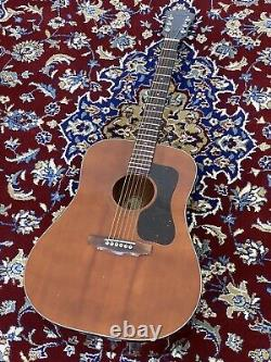 Guild D-25 M 1978 Vintage USA Made Mahogany Acoustic Guitar With Hard Case