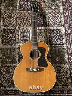 Guild F-212 1968 Vintage USA Made 12 Cordes De Guitare Acoustique Avec Étui Rigide