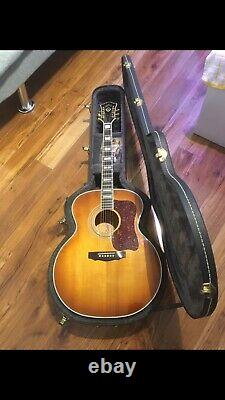 Guild F 50 Guitare Acoustique Vintage (rare Rafale Dorée) De 1975, Fabriqué Aux États-unis