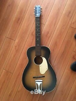 Guitare Acoustique De La Taille Des Années 1950/60 Vintage Par Harmony Parlour - Made In USA