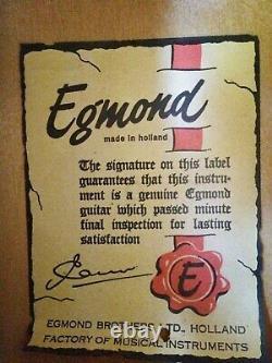 Guitare Acoustique Egmond Vintage Fabriquée En Hollande