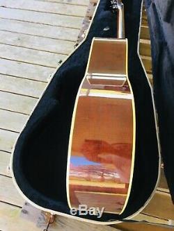 Guitare Acoustique Fishman Vintage Yamaha Ll-5 Des Années 1970 Tout En Bois Massif Fabriqué Au Japon