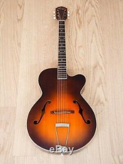 Guitare Acoustique Kay Vintage Archtop Cutaway Des Années 1950 Sunburst Usa-made Avec Étui