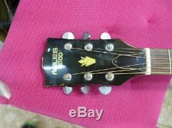 Guitare Acoustique Miles 2000 N017 Vintage Des Années 1975 Fabriquée Au Japon