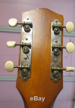 Guitare Acoustique Vintage Harmony H-162, Fabriquée Aux États-unis, Étui À Manche En Acier Acajou Années 60