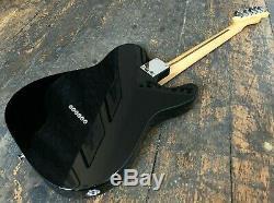Guitare Électrique Telecaster Noire Mexicaine Fender Gaucher Fabriquée Au Mexique