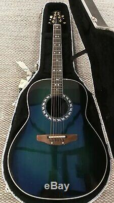 Guitare Électroacoustique Ovation Deep Bows Des Années 1980 Fabriquée Sur Mesure Pour Mick Hucknall