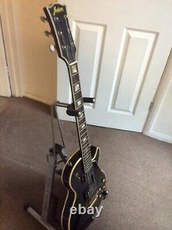 Guitare Jedson Noire Vintage Des Années 1970. Fabriqué Au Japon Mij
