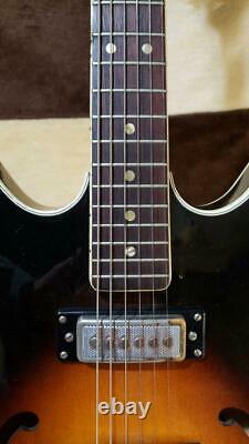 Hagstrom Viking 2p Sunburst 1967 Guitare Électrique Semi-acoustique Fabriqué En Suède