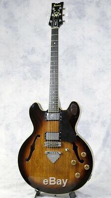 Ibanez As100 Brown Sunburst / Semi-acoustique Avec Sc Fait En 1979 Au Japon