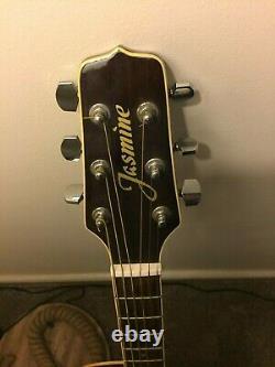 Jasmine Takamine Ts99c Electro Acoustic Guitar Made In Korea 1993, Noyer