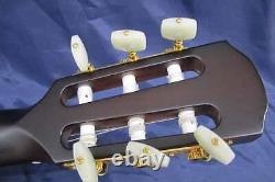 K. Yairi Kyf-ctm F-hall Electric Nylon Guitar Blanc Fabriqué Au Japon Avec Hc