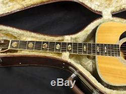 K. Yairi Yw-600 Avec Étui Rigide Non Authentique Fabriqué En 1974, Un Ems Utile Et Rare F / S