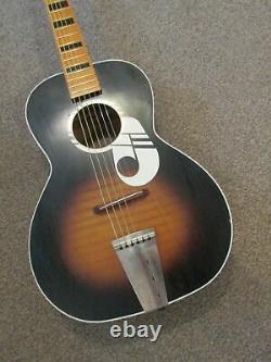 Kay''note' Guitare Acoustique USA Made 60s Harmony Silvertone Airline