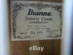 Kazuo Hashimoto Ibanez Ga120 Andorre Classique Hand Crafted Vintage Japon A Fait 80