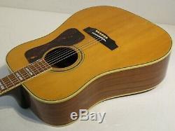 Kiso Suzuki 9512 Vintage Années 70 Fabriqué Au Japon Stunner Guitare Acoustique