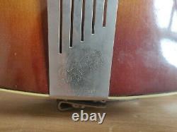 Left Handed Hofner Congress Vintage Guitare Électro Acoustique Fabriqué En Allemagne 60s