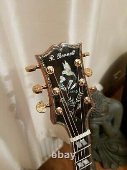 Luthier Custom Hand Made Hummingbird Acoustic Guitar Fabriqué Par Russell Bennett