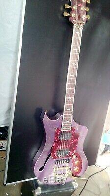 Luthier Fait Vendange Belle Guitare Semi-acoustique, Inf 1 Et 4 Escarre, Bigsby, Écrou De Blocage