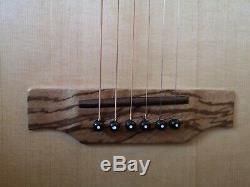 Luthier Made Parlour (parlour) Guitare Britannique 2016 Tout En Bois Massif Avec Sac