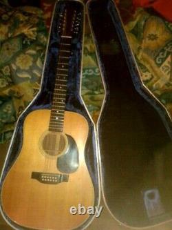 Martin D12-28 Acoustique 12 Cordes Guitare Made 1972/3