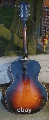 Marvel C Guitare Arc-en-ciel Vintage Par Harmony Début Des Années 1940 Haut En Épicéa Massif /us Made