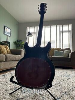 Matsumoku Aria Mij (mosrite / Acoustique) Guitare Fabriquée Au Japon 70s Black Widow Rare