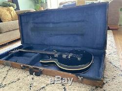 Matsumoku Aria Mij (mosrite / Acoustique) Guitare Made In Japan 70 Black Widow Rare