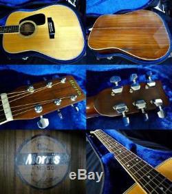 Morris Guitare Acoustique Md-505 Avec Le Japonais Fait Hc Rare Utile Ems F / S