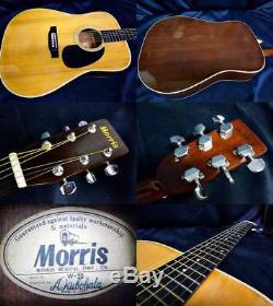 Morris Guitare Acoustique W-20 Fabriqué Au Japon Beutiful Japan Rare Utile Ems F / S