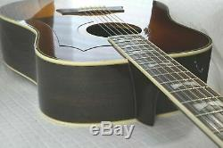 Morris Mg-60 Made In Japan Guitare Acoustique Vintage Des Années 1970 Sunburst