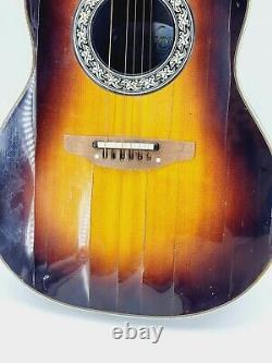 Ovation 1612 Balladeer Guitare Électrique Acoustique Fabriquée Aux États-unis