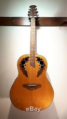 Ovation Cc267 Électro (pas Demi!) Bol Profond Dos Guitare Acoustique Made In Korea