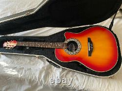 Ovation Pinnacle Series 386t Made In Japan Electric Acoustic Guitar