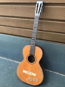 Projet Guitare Vintage Rex Parlor. Cordes Gretsch -made Supertone & Washburn